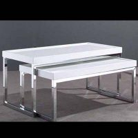 Tavolino Cromato Bianco | Affitto Tavolino Cromato Bianco | Noleggio Tavolino Cromato Bianco