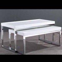 Tavolino Cromato Bianco   Affitto Tavolino Cromato Bianco   Noleggio Tavolino Cromato Bianco