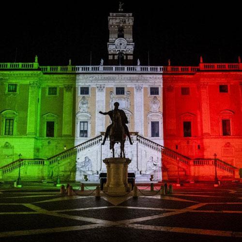 Proiezione Bandiera Tricolore| Affitto Proiezione Bandiera Tricolore| Noleggio Proiezione Bandiera Tricolore